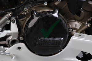 Carbon koppelings-deksel Ducati