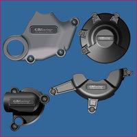 GB Racing 4-delig Set Motorblok Covers / Ducati 848