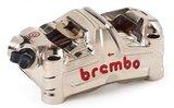 Brembo-HPK GP4-MS MONOBLOC remklauw / CNC/ nikkel coated / 100MM / Kawasaki ZX10R '16 > / H2-R_