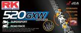 RK GB520GXW ketting / 120 schakels / BLACK-GOLD_