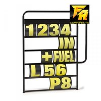 Pitbord met 37 delig symbolen set