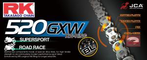 RK GB520GXW ketting / 120 schakels / BLACK-GOLD