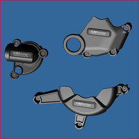 GB Racing 3-delig Set Motorblok Covers / Ducati 1098/1198