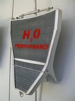 H2O Racing radiator Aprilia / oversized